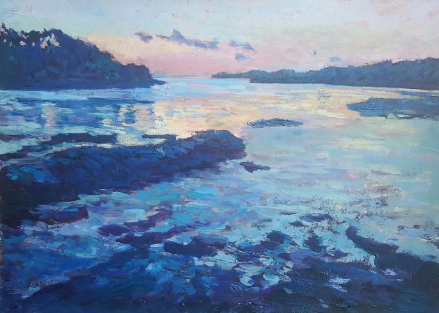 'Low Tide, Durrus'Acrylic On Paper, 42cm x 32cm